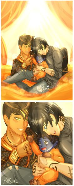 They're soooo cute!!!!!! Magnus, Alec, and their son Max