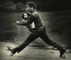 Rollerskating, 1970s.