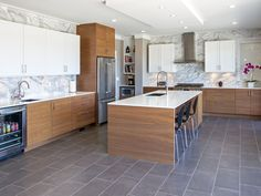 AyA Kitchens | Canadian Kitchen and Bath Cabinetry Manufacturer | Kitchen Design Professionals - Seaforth Latte and Cirrus Rye Walnut in Transitional Transitional