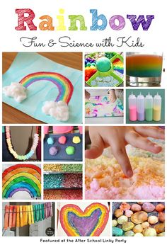 Rainbow Activities for Fun, Learning and a little bit a science too this spring featured from the After School Linky Party at The Educators' Spin On It.