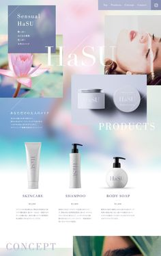 埋め込み Website Layout, Web Layout, Layout Design, Layout Site, Cosmetic Web, Cosmetic Design, Banner Design Inspiration, Web Design Inspiration, Beauty Web