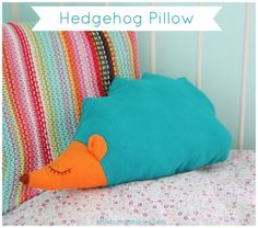 hedgehog pillow cushion tutorial little button diaires