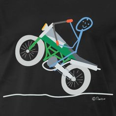 Biker T-shirts, Motorcycle, Drawings, Vehicles, Women, Funny Stick Figures, Funny Shirts, Bicycling, Rolling Stock
