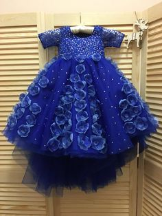 Printed Lace and frilled blue satin trimming American lace very pretty 1meter