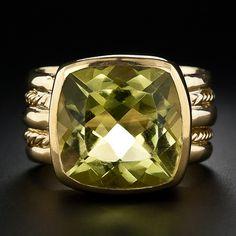 Lemon Citrine Estate Ring