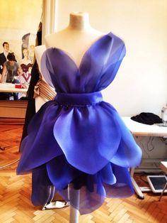 Flower organza dress by Marie Ollie