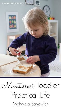 Sep 2017 - Toddlers are capable of so many practical activities. Making a sandwich is a simple practical life activity for Montessori toddlers at home. Toddler Learning Activities, Infant Activities, Preschool Activities, Kids Learning, Learning Games, Learning Tools, Montessori Preschool, Montessori Education, Preschool At Home