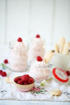 Cheesecake Dessert mit Himbeeren