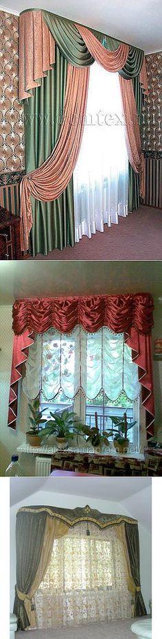 liveinternet.ru Swag Curtains, Curtains And Draperies, Elegant Curtains, Home Curtains, Window Curtains, Homemade Curtains, Curtain Designs, Curtain Ideas, Altar Decorations