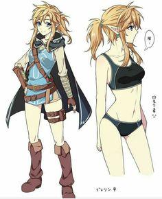 Female Link? The Legend Of Zelda, Legend Of Zelda Breath, Rule 63, Link Botw, Breath Of The Wild, Nintendo, Versión Anime, Anime Art, Game Character