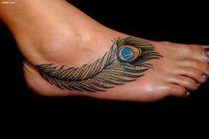 Best Small Tattoo Placement Ideas for Female – Tattoo Styles & Tattoo Placement Peacock Feather Tattoo Meaning, Feather Tattoo Foot, Peacock Tattoo, Feather Tattoo Design, Peacock Feathers, Foot Tatoos, Tattoo Plume, Tattoo Platzierung, Tattoo Motive