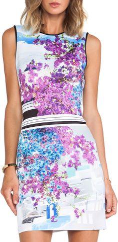 Santorini Stripe Neoprene Dress