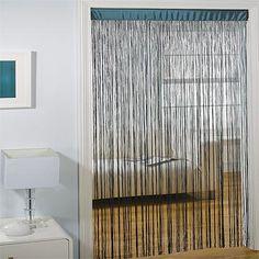 Flecos como puerta #Decorar con flecos #Fringe string curtains Ideas para #decorar con flecos #Fringe #string #curtains #design