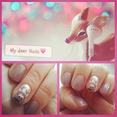 deer nails - cupcake nails