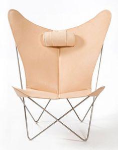 OxDenmarq Armchair KS Chair - Stainless Steel Frame - Leather - Nature | https://designonline24.nl