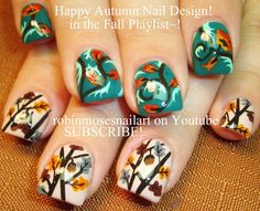 2 Thanksgivng Nail Art Tutorials    DIY Fall Design for Autumn Nails