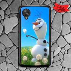 Olaf Playing Flower Dandelion Nexus 5 Black Case