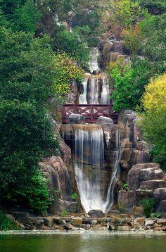 Waterfall at Stow Lake, Golden Gate Park, San Francisco, California