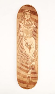The Black Window skate deck by Pat Fox of Apollo Collective #tattoos #pinup #sexy #board