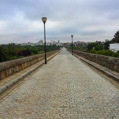 Solitario puente #romano. #Mérida #paseomatutino