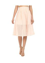 Clarice Gingham Organza Pleated Midi Skirt found on sale at 6PM.COM 11 days ago