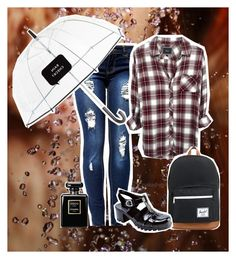 """""""Monsoon hunter shirt"""" by fun-time ❤ liked on Polyvore featuring Rails, Kate Spade, Herschel Supply Co., Chanel, polyvoreeditorial and huntershirt"""