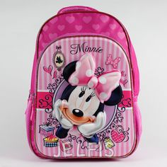 """Jelfis.com - Disney Minnie Mouse Bowtique 3D Pop Up Girls 16"""" Large Backpack for School, $17.99 (http://www.jelfis.com/disney-minnie-mouse-bowtique-3d-pop-up-girls-16-large-backpack-for-school/)"""
