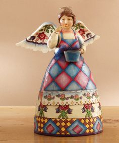 Take a look at this Bless This Kitchen Angel Figurine by Jim Shore on #zulily today!