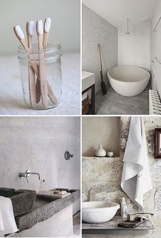 rustic bathrooms - #Tuscan #Home #Design - Find More Decor Ideas at: http://www.IrvineHomeBlog.com/HomeDecor/ ༺༺ ℭƘ ༻༻ and Pinterest Boards - Christina Khandan - Irvine, California