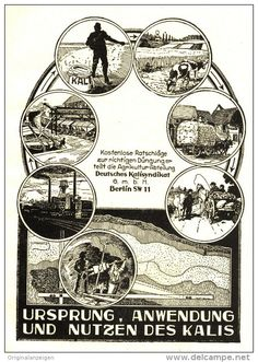 Original-Werbung/Anzeige 1924 : KALI / DEUTSCHES KALISYNDIKAT BERLIN ca . 100 x 140 mm