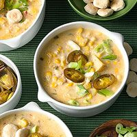 Corn Chowder with Jalapeno Peppers.  Made this tonight.  Delicious and easy!