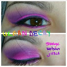 For this look use savage,urban and jilted from the urban decay electric palette.