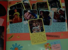 My fav page - I used the journal method here and used the tab out method to organize the pictures
