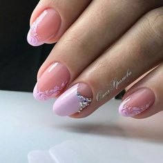 Wedding Nails-A Guide To The Perfect Manicure – NaiLovely Beautiful Nail Designs, Cool Nail Designs, Oval Nails, Pink Nails, Glitter Nails, Cute Nails, Pretty Nails, Popular Nail Designs, Wedding Nails Design