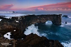 Dyrholaey Arch, near Vik, Iceland. Legend says vikings used to meet here.