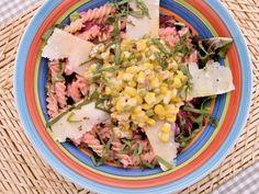 Receta | Pasta en ensalada con mahonesa de remolacha - canalcocina.es