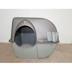 customer image gallery for omega paw litter box pewter