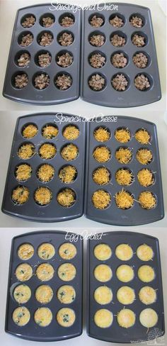Egg Cups for the Freezer:  Use Spinach, Ham and Cheese