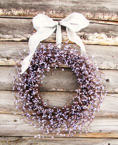 Lilac Lavender Wedding Silver & Purple Wreath by WildRidgeDesign, $50.00