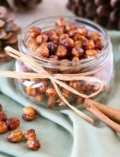 Honey Cinnamon Roasted Chickpeas—snack on these or give them as a gift.