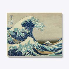 8 by 8-Inch 3dRose ft/_155631/_1 The Great Wave Off Kanagawa by Japanese Artist Hokusai Dramatic Blue Sea Ocean Ukiyo-E Print 1830 Framed Tile