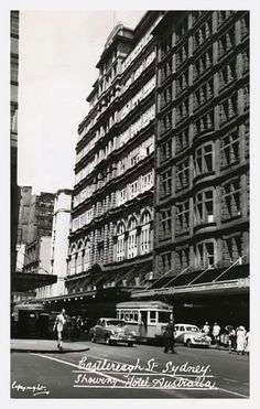 Castlereagh St,Sydney:showing The Hotel Australia.A♥W