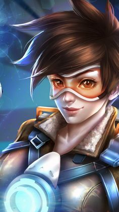 Tracer art Overwatch Video Game, Overwatch Tracer, Sony Xperia, Tracer Art, Overwatch Females, Overwatch Wallpapers, Overwatch Drawings, Wolf, Final Fantasy Xv
