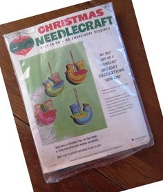 Vintage Christmas Felt Ornament Craft Kit by Bucilla 8617 - 4 Jeweled EXOTIC BIRDS Decoration - Holiday DIY Craft Kit - Unopened Kit