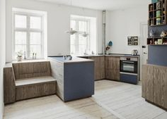 Build in sitting opportunity in the kitchen, wow!