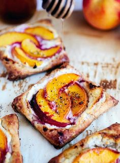 Peach Tarts with Goat Cheese and Honey via Lady & Like