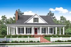 This beautiful two story country house plan design features wrap-around porches and open concept living spaces. Browse our house plans today! YES YES YES PERFECT