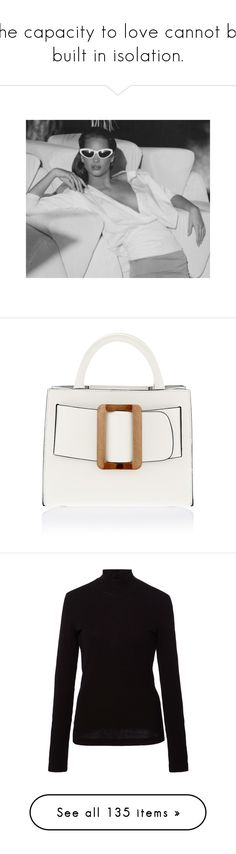 """""""The capacity to love cannot be built in isolation."""" by lucieednie ❤ liked on Polyvore featuring bags, handbags, tote bags, boyy, white, white tote handbags, handbags tote bags, tote hand bags, white tote bag and tote bag purse"""
