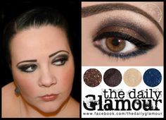 Lid: BFTE Shadow in Gable, applied with BFTE Mix & Fix.   Crease: BFTE Shadow in Espresso.   Highlight: BFTE Pro Shadow in Full Moon Rising.   Top Eyeliner: Be A Bombshell Pen Eyeliner in Onyx.   Bottom Eyeliner: BFTE Shadow in Spellbound, applied over Urban Decay 24/7 Glide-On Eyeliner in Binge. Bottom Eyeliner, Eyeliner Pen, Brown Eyeshadow Looks, Full Moon Rising, Bombshells, Makeup Looks, Make Up, How To Apply, Urban Decay