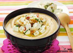 #Receta de hummus con queso feta, un aperitivo delicioso y muy nutritivo.